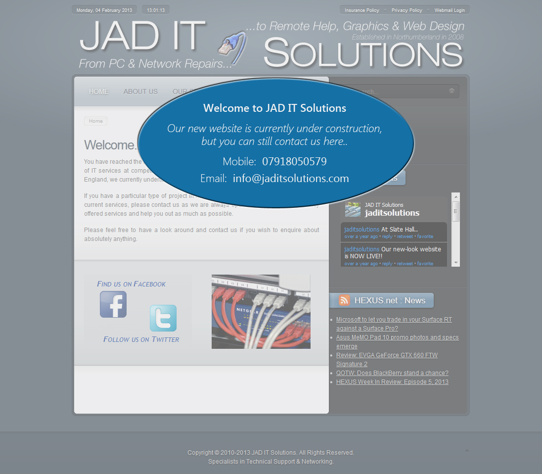 JAD IT Solutions: New site coming soon!! (Updated: 04/02/2013)
